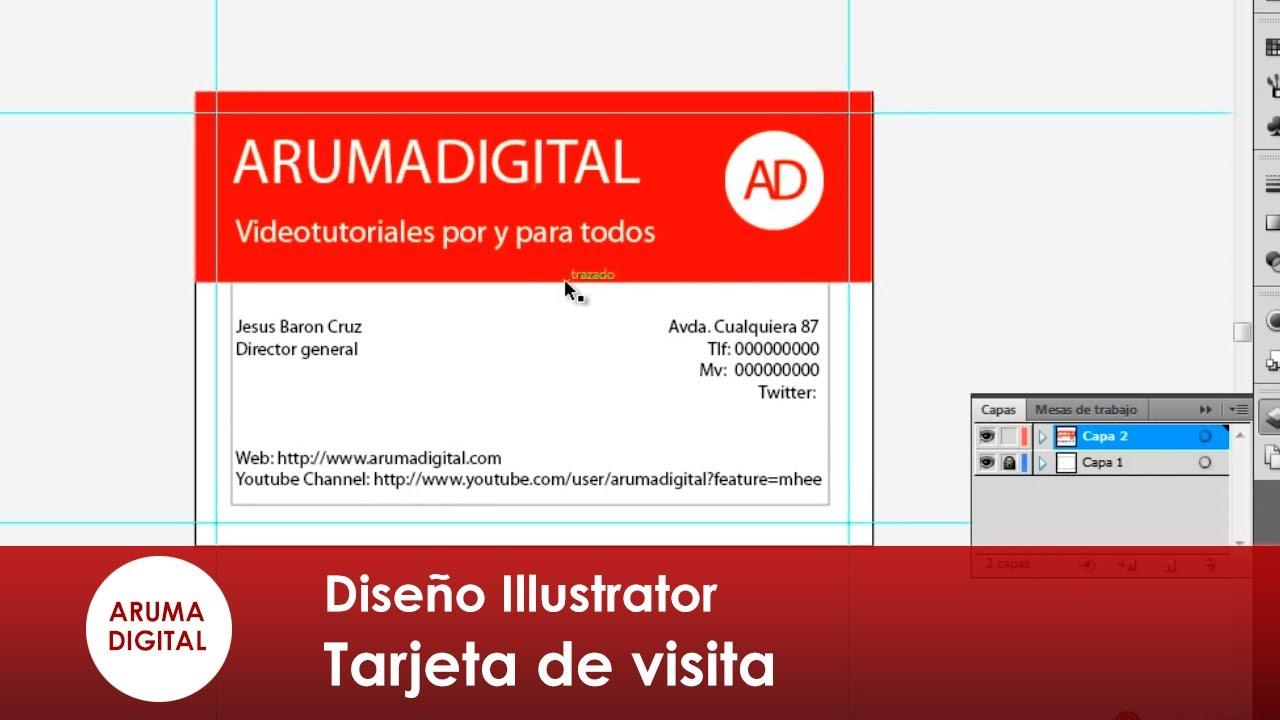 Illustrator 071 Tarjeta de visita medidas y ajustes - YouTube
