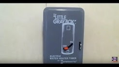 """How to install a """"little grey box"""" water heater timer on a water heater and also how to use off grid"""