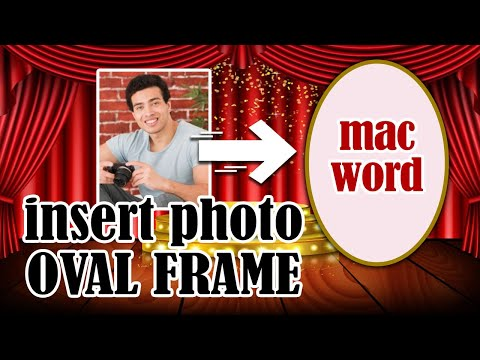 Insert An Photo Into Oval Frame Youtube