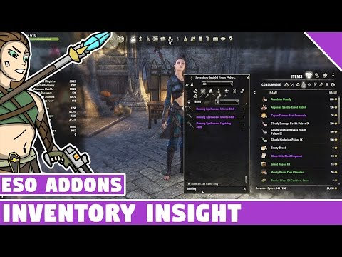 Inventory Insight | ESO Addon Spotlight | Elder Scrolls Online Best Addons