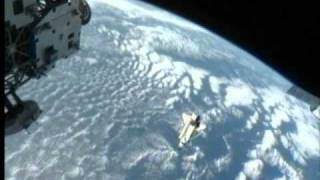 STS-133: Discovery Undocking and Flyaround (time lapse)
