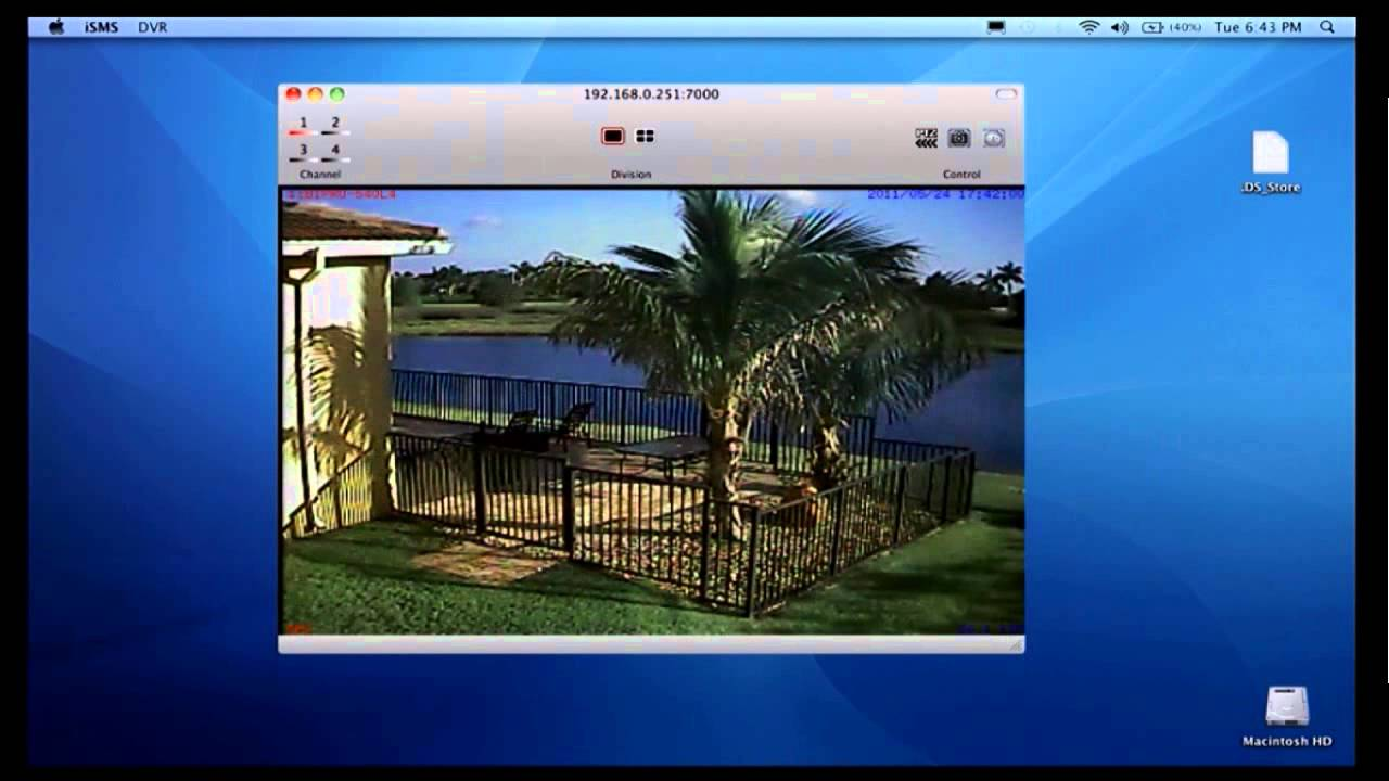 Mac DVR Viewer Software for CCTV Security Cameras - YouTube