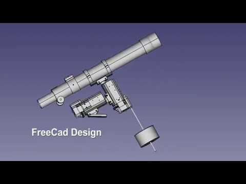 3D Printed EQ Mount II  for OnStep telescope goto controller - YouTube