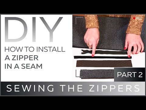 DIY: How to install a zipper in a seam. Sewing the zippers.