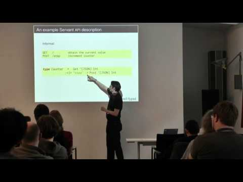 BOB 2016 - Andres Löh - Type the web with Servant!