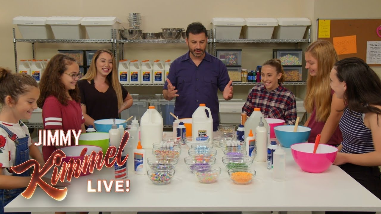 Jimmy Kimmel Makes Slime With Kids - YouTube