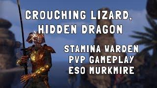Crouching Lizard, Hidden Dragon   Stamina Warden PVP Gameplay   ESO Murkmire