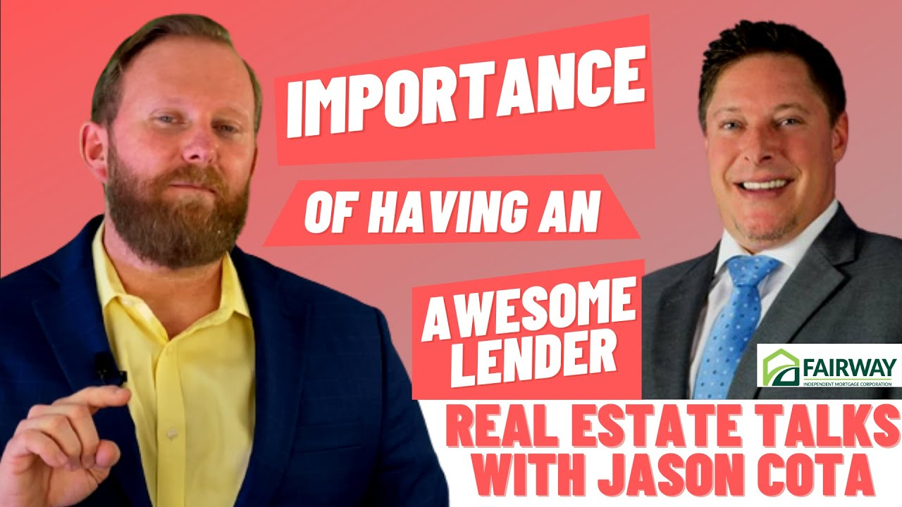 Lending Process In The Real Estate Market 2021 | With Jason Cota | REAL ESTATE TALKS By Jared Jones
