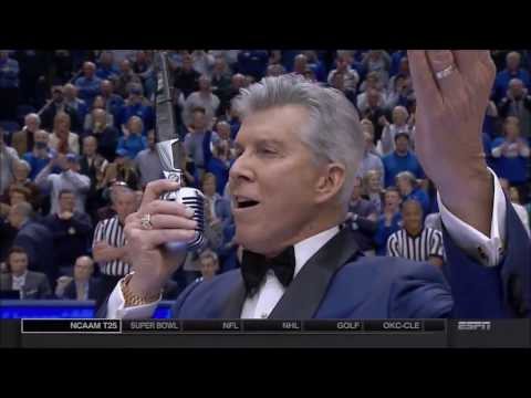 Michael Buffer with the Kentucky Player s