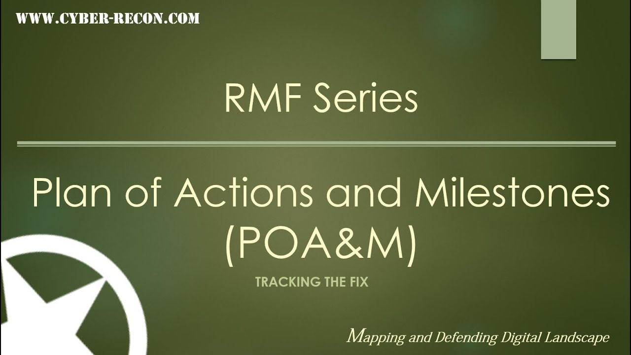 plan of action and milestones template - an introduction to the plan of actions and milestones poa