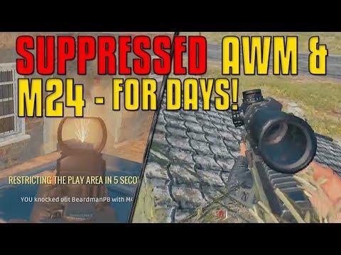 Suppressed AWM & M24 For Days - Stream Highlights | PUBG