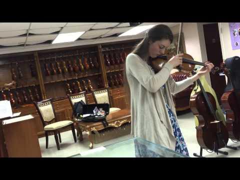Christa-Maria Stangorra -part of Mendelssohn violin concerto in e minor