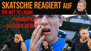 Skatschies TRY NOT T LAUGH CHALLENGE auf DEUTSCHE MEMES/ PARKOURFAILS