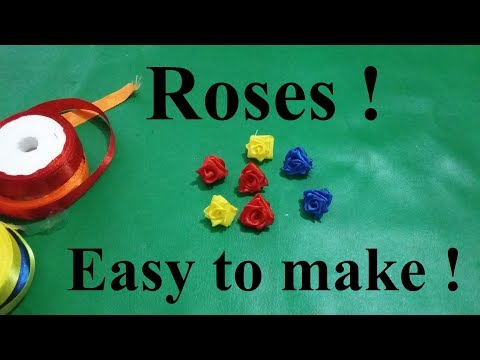 how-to-make-a-small/tiny-rose-flower-from-satin-ribbon-easily-at-home-!-diy-handmade