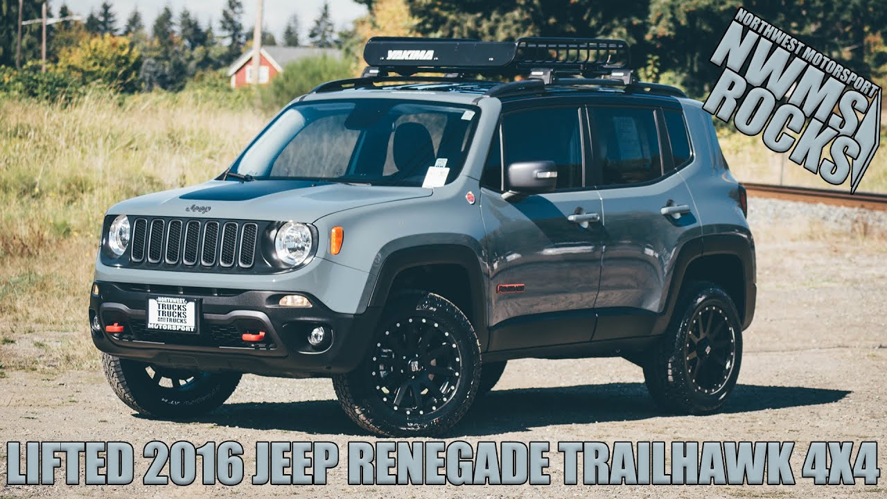 Jeep Renegade Trailhawk Lift >> LIFTED 2016 JEEP RENEGADE TRAILHAWK 4X4 - YouTube