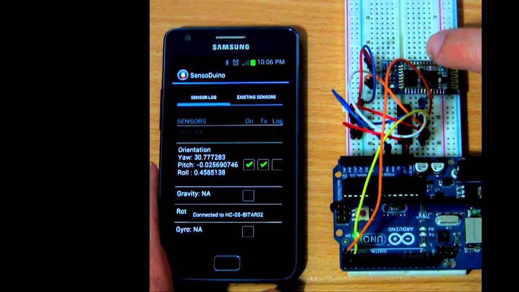 SensoDuino: Turn Your Android Phone Into a Wireless Sensors Hub for