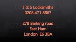 24/7 Locksmiths East London and Essex J & S Locksmiths 0208 471 8667