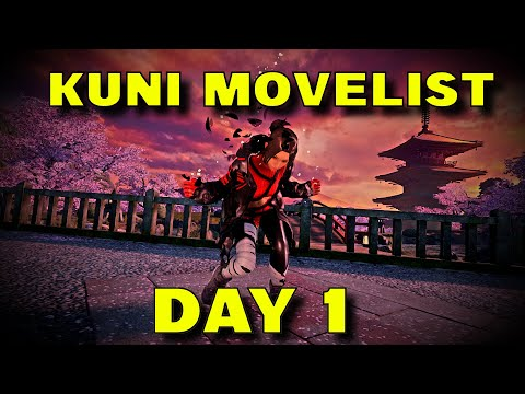 Tekken 7 Season 4 - Day 1 Kunimitsu Move List |