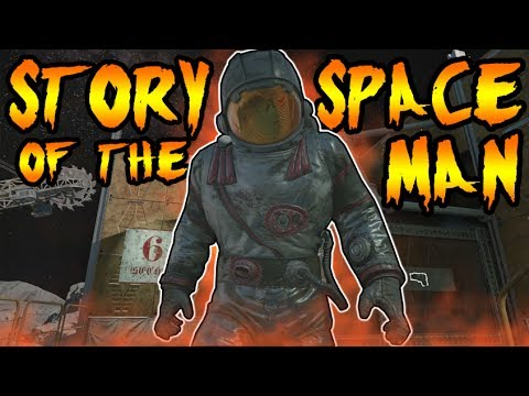 The Story of ASTRONAUT! MYSTERY SPACE MAN ON THE MOON! Call of Duty Black Ops Zombies Storyline