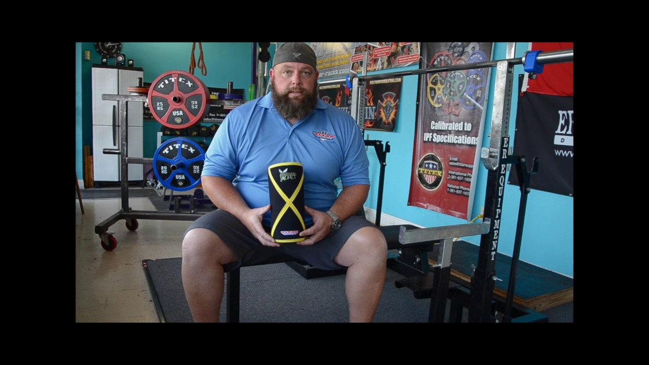 Titan Yellow Jacket Knee Sleeves IPF Legal 3rd generation Powerlifting