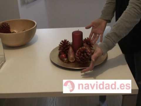 manualidad navidea centros de mesa decorativos para navidad en dorado y rojo youtube