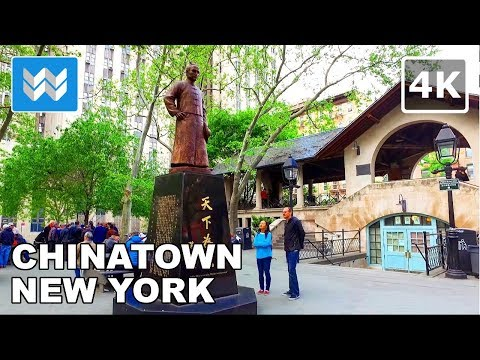Walking around Little Italy & Chinatown in Lower Manhattan, New York City 【4K】