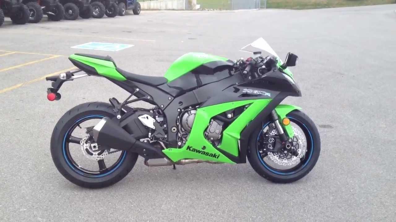 2012 Kawasaki Ninja Zx 10r Abs Green And Black Youtube