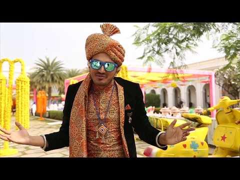 Emcee Girish Sharma hosting Mehandi Ceremony at Taj Falaknuma Palace