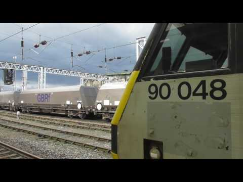 Class 90 Electric Locos at Carlisle -  90034. 90037, 90044, 90048 - 31st March 2017