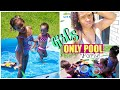 💦All Girls Pool Party | 😱Toddler Pushed My Face Under Water