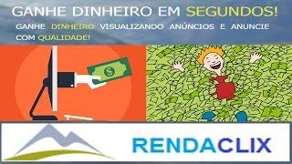 RendaClix - Ganhe Dinheiro Clicando em anúncios - Pagamento mínimo de 3 reais por Saque!