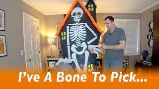 Star Spinner Airblown Inflatable Halloween Prop w/ Skeleton, Grave & Haunted House Review