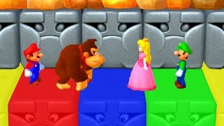 Mario Party 10 - Minigames - Mario vs Donkey Kong vs Peach vs Luigi (Master CPU)