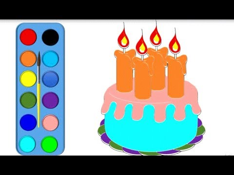 Drawing and Coloring Cake and Unicorn Coloring Pages for ...