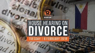 House hearing on divorce