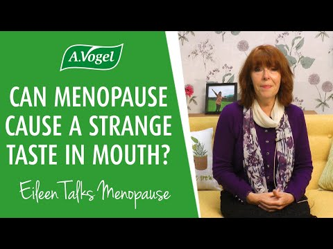 Can menopause cause a strange taste in the mouth?