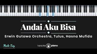 Andai Aku Bisa - Tulus, Erwin Gutawa Orchestra, Hasna Mufida (KARAOKE PIANO - MALE KEY)