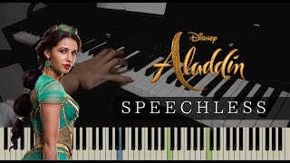"""Speechless (Part 2) From """"Aladdin"""" Piano Covered by kno"""