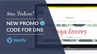 Teezily has released promo codes for your custom domains : you can now offer buyers new promotion codes, all in one click. enhance and personalize ...
