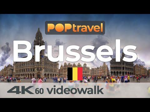 Walking in BRUSSELS / Belgium 🇧🇪- 4K 60fps (UHD)