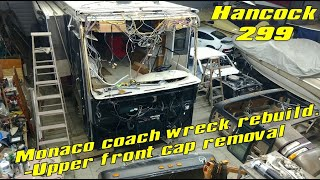 Wrecked Monaco coach rebuild video 12