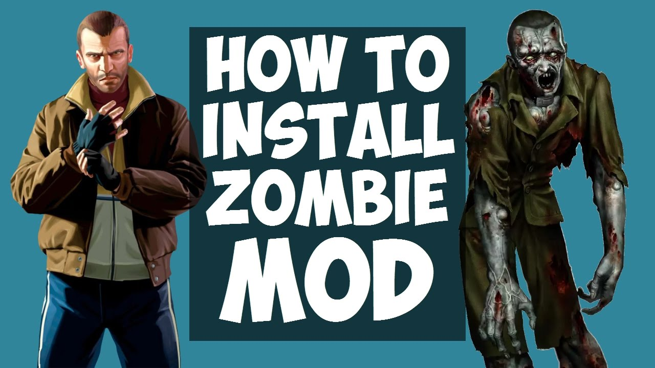 GTA IV: How to install the Zombie MOD? (Left 4 Liberty: Infection v5 1) HD  2017