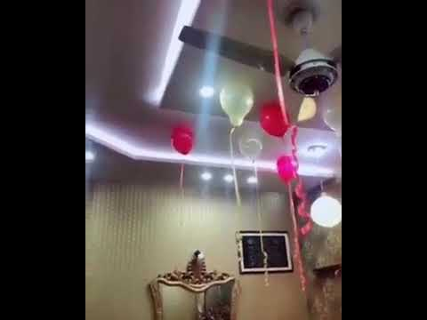 Beautifully decorated Room  in Wedding Anniversary Surprise celebration