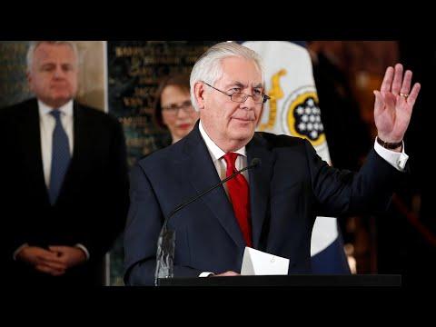 Rex Tillerson bids farewell: 'This can be a mean-spirited town'