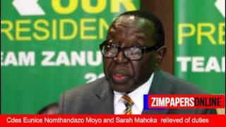 Sandi-Moyo,Sarah Mahoka relieved of duties