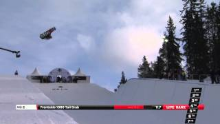Christian Haller - Semi Final run at the Arctic Challenge Halfpipe 2013