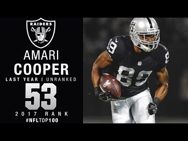 #53: Amari Cooper (WR, Raiders) | Top 100 Players of 2017 | NFL