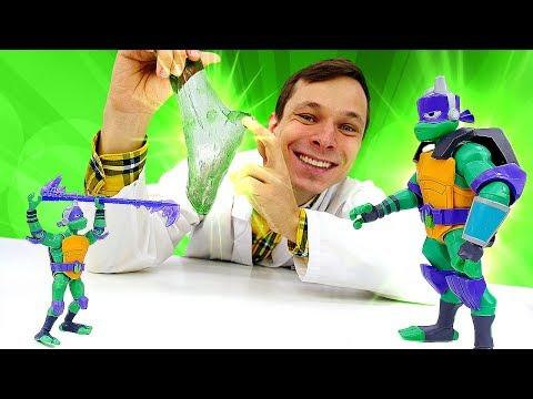 Видео про игрушки. Игры в больницу. Черепашка Ниндзя Донателло стал гигантом!