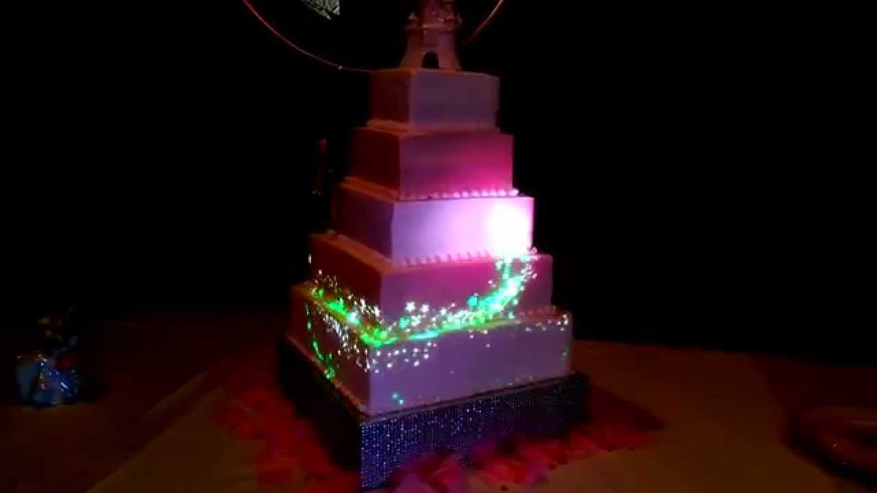 wedding cake projection mapping youtube. Black Bedroom Furniture Sets. Home Design Ideas