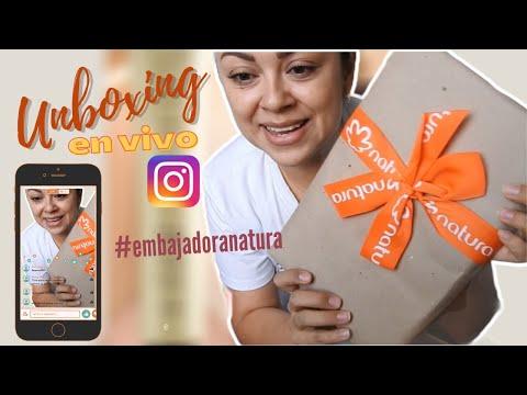 Unboxing, lo que me envió Natura (en vivo de Instagram)